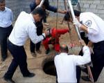سقوط سطل خاک در چاه و مصدومیت مقنی 56 ساله