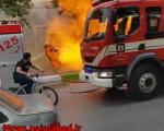انفجار وحریق انبار و نمایندگی فروش کپسول گازمایع