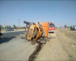 تصادف و واژگونی خودرو در کمر بندی شمالی با 4 مصدوم