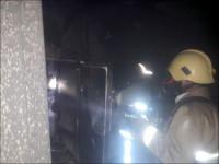 اطفاء حریق منزل مسکونی در منطقه پنج