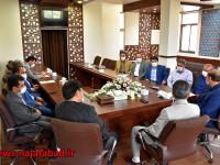 جلسه با مدیرجدید امورآب و فاضلاب منطقه نجف آباد