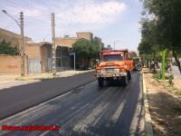 بهار آسفالت / روکش آسفالت در بلوار شاهد منطقه چهار