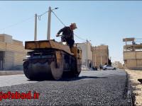 بهار آسفالت / روکش آسفالت در کوچه سرو