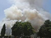 حضور 8 دقیقه ای آتش نشانان نجف آباد در حریق بازار شب