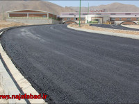 روکش گرم آسفالت در کشتارگاه صنعتی دام شهرداری نجف آباد
