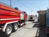آتش سوزی درکارگاه چوب بری نهضت آباد