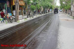 روکش آسفالت خیابانهای  فردوسی ، منتظری شمالی و معین