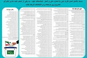 لیست شعب رأی گیری شهرستان نجف آباد