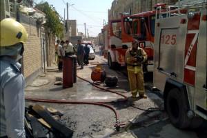 کپسول های گاز مایع و آتش سوزی منزل و خودرو در نجف آباد