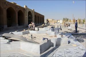 تداوم بهسازی در باغ موزه نجف آباد