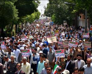 راهپیمایی روز جهانی قدس و آخرین نماز جمعه ماه مبارک رمضان