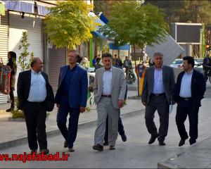 بازدید از میدان امام خمینی (ره) (باغملی) و بازار نجف آباد