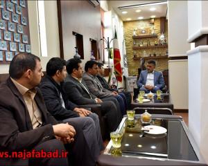 جلسه با رئیس اداره تعاون،کار و رفاه اجتماعی نجف آباد