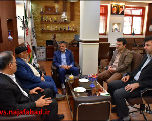 جلسه با سرپرست بانک ملی حوزه نجف آباد