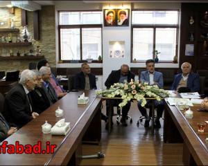 جلسـه هیئت اُمنای آرامستان نجف آباد