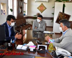 جلسه با رییس اداره فرهنگ و ارشاد اسلامی نجف آباد