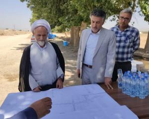 بازدید از پروژه های عمرانی به اتفاق امام جمعه