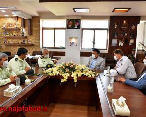 جلسـه با فرماندهی نیروی انتظامی نجف آباد