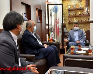 جلسه با ریاست بیمارستان شهید محمد منتظری