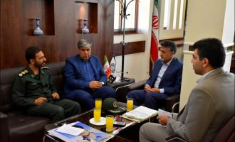 جلسه با فرماندهی ناحیه مقاومت بسیج نجف آباد