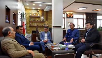 جلسه شهردار  با مدیرعامل شرکت گازسوزان