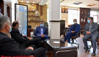 جلسه با مدیرکل بنیاد شهید و امور ایثارگران استان