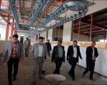 جلسه و بازدید در بزرگترین کشتارگاه غرب استان