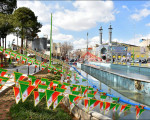 گذری بر آذین بندی نجف آباد در چهلمین بهار انقلاب