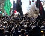 حرکت دسته جات عزادار در سوگ شهادت حضرت فاطمه زهرا(س) در نجف آباد