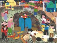 دیپلم افتخار رقابت بین المللی نقاشی برای دختر نجف آبادی